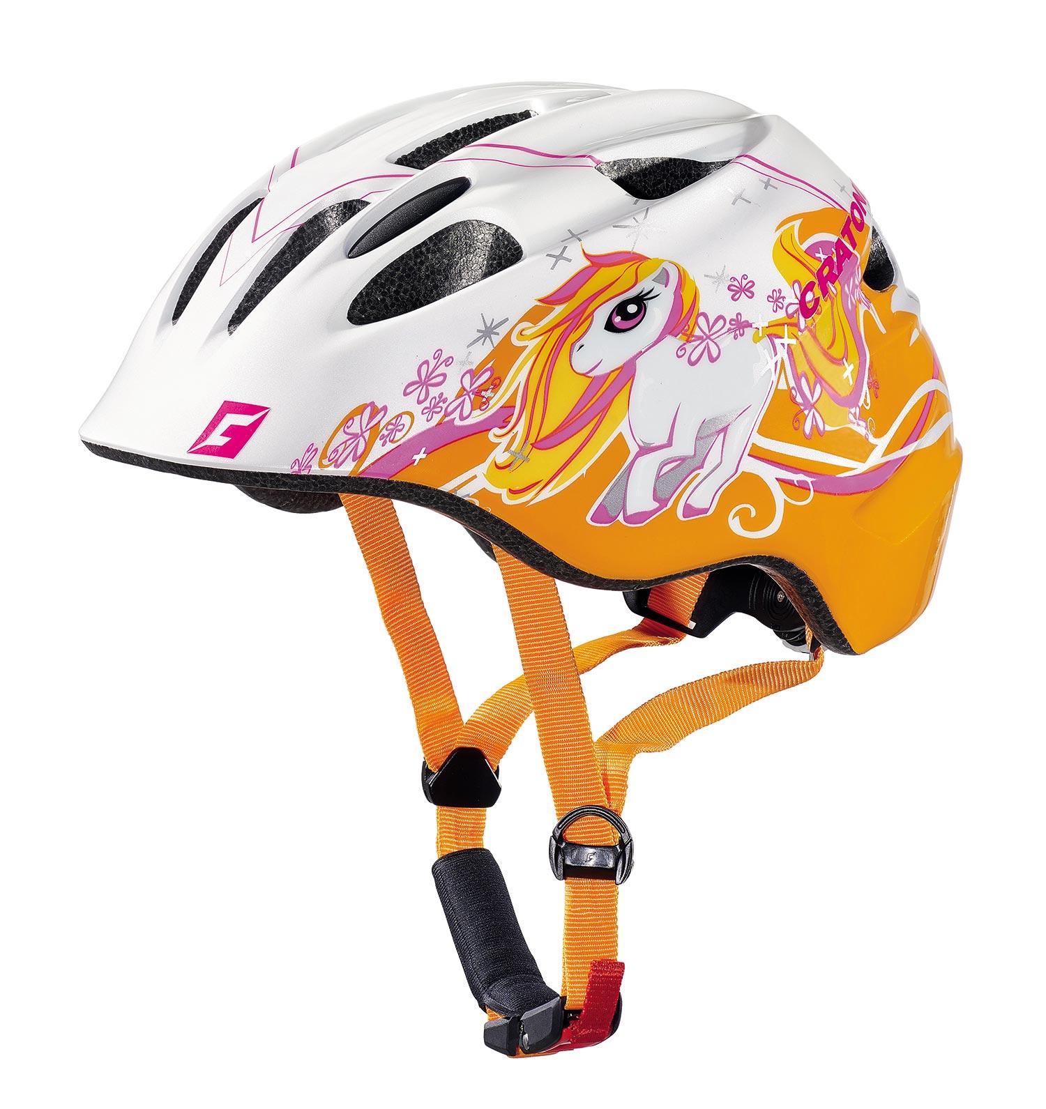 Akino Pony White Orange Glossy